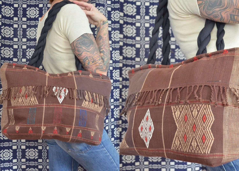 80's Guatemalan Folk Ways Woven Ethnic Tote Bag. $38,00, via Etsy.