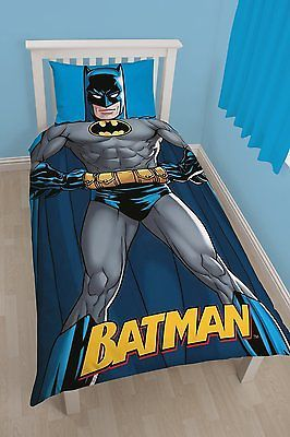 Dc #batman shadow #panel bed set #single duvet cover pillowcase ...