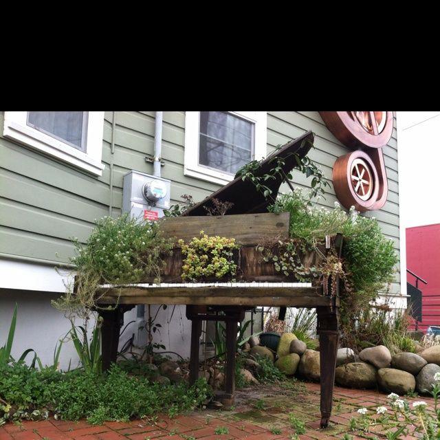 piano in garden   Piano garden!!