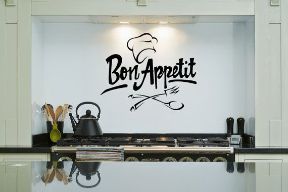 Attractive FREE SHIPPING Kitchen Wall Decal   Bon Appetit Chef Hat   Removable Wall Art  Sticker