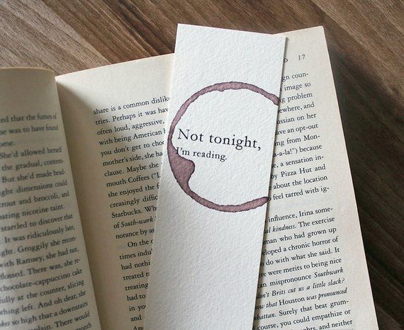 Funny Bookmark Paper Not Tonight Im Reading Birthday Gift For Reader Book Lov