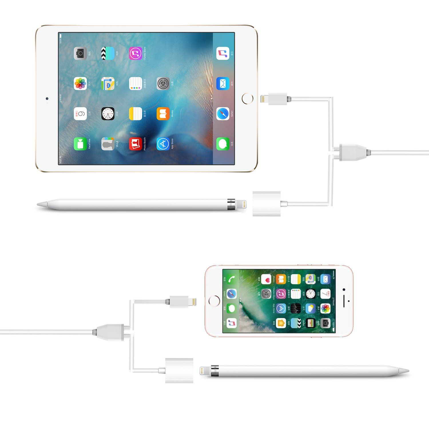 KeyEntre Apple iPad Pro Pencil Charging Cable (2in1