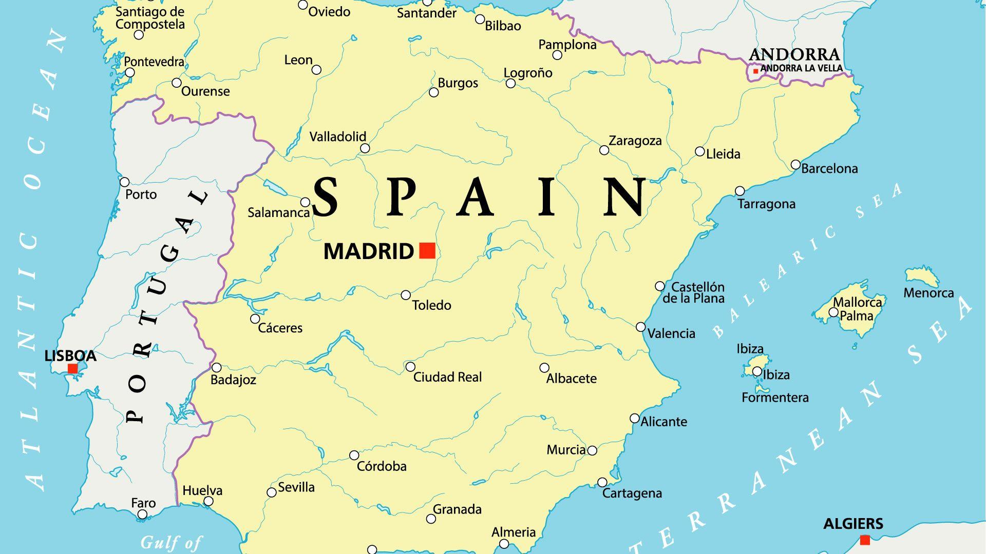 Sehr Mapa hidrográfico de Portugal y España | Mapas del mundo  HP65