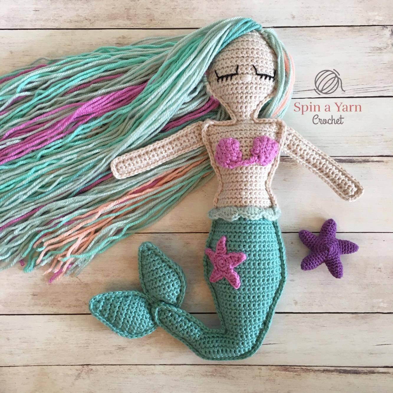 Ragdoll Mermaid Free Crochet Pattern | handmade | Pinterest | Tejido ...