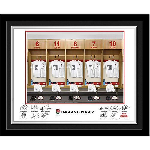 England Rugby Dressing Room Frame From Celebrationsplus Com 29 99 With Free Delivery With Images Rugby Gifts