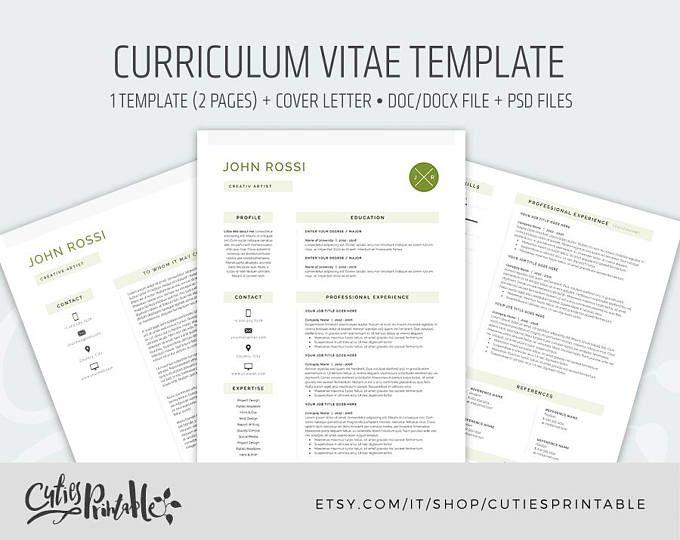 Amanda Resume/CV Template Word Photoshop InDesign