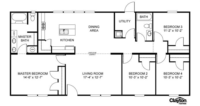 Interactive floorplan mvp spec 28x60 56 29mvp28564ah for Home builder interactive floor plans