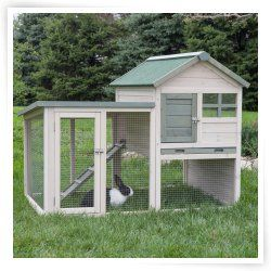 Boomer & George White Wash Rabbit Hutch