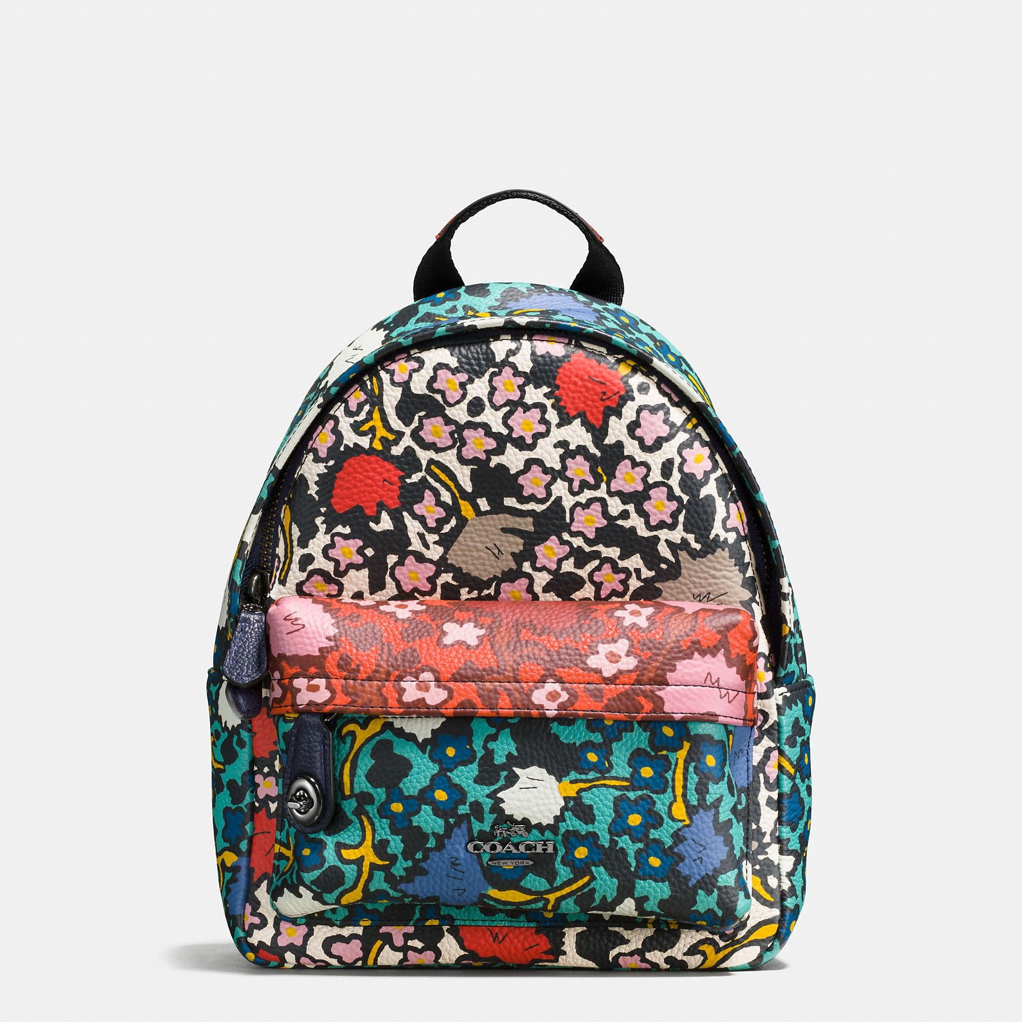 54342aa3cc COACH MINI campus backpack in multi floral print leather.  coach  bags   leather  lining  backpacks