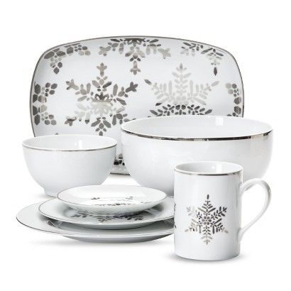 Threshold™ Snowflake Porcelain Dinnerware  sc 1 st  Pinterest & Threshold™ Snowflake Porcelain Dinnerware | My Wish List | Pinterest ...