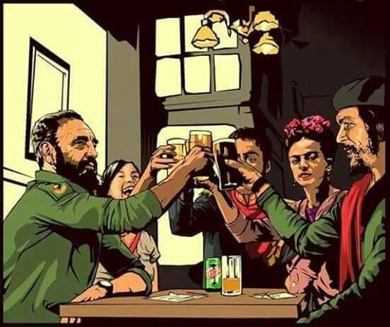 Know the true story Che Guevara, Fidel Castro, Frida Kahlo, Simon - rückwand für küche
