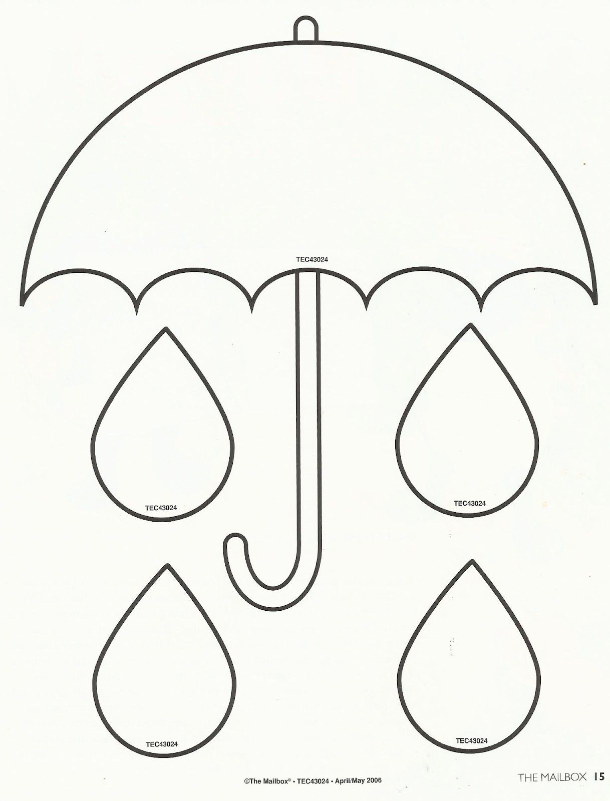 Spring printable umbrella template Use for filling a bucket – Umbrella Template