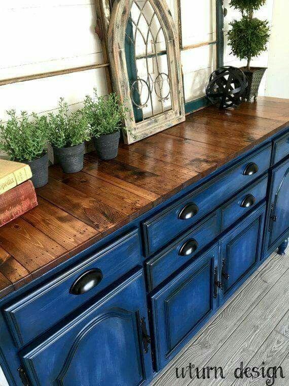 Super Blue painted dresser | living room ideas | Pinterest | Dresser  WX56