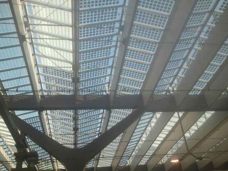 Solar Panel Sunscreen Windows At Rotterdam Central Station Solar Panels Solar Canopy