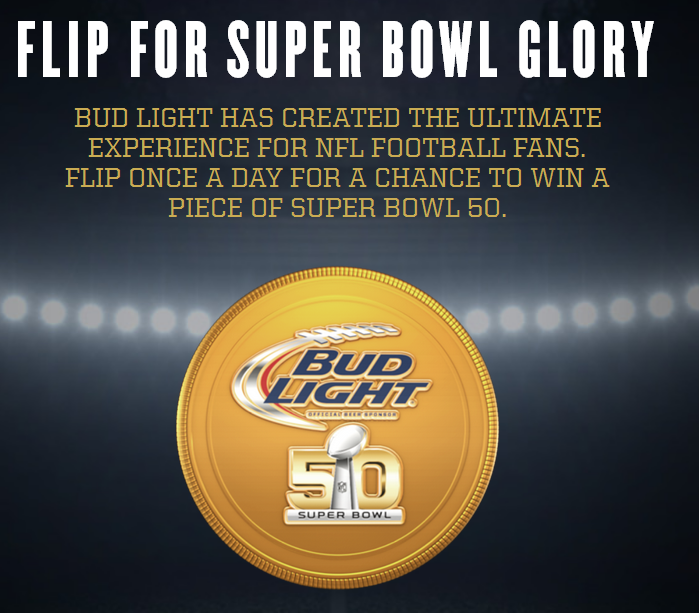 Bud light coin toss instant win and sweepstakes