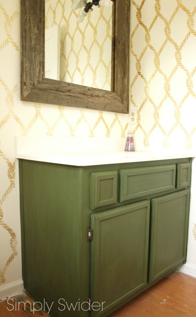 Make laminate cabinets look high end with milk paint - Painting laminate bathroom cabinets ...