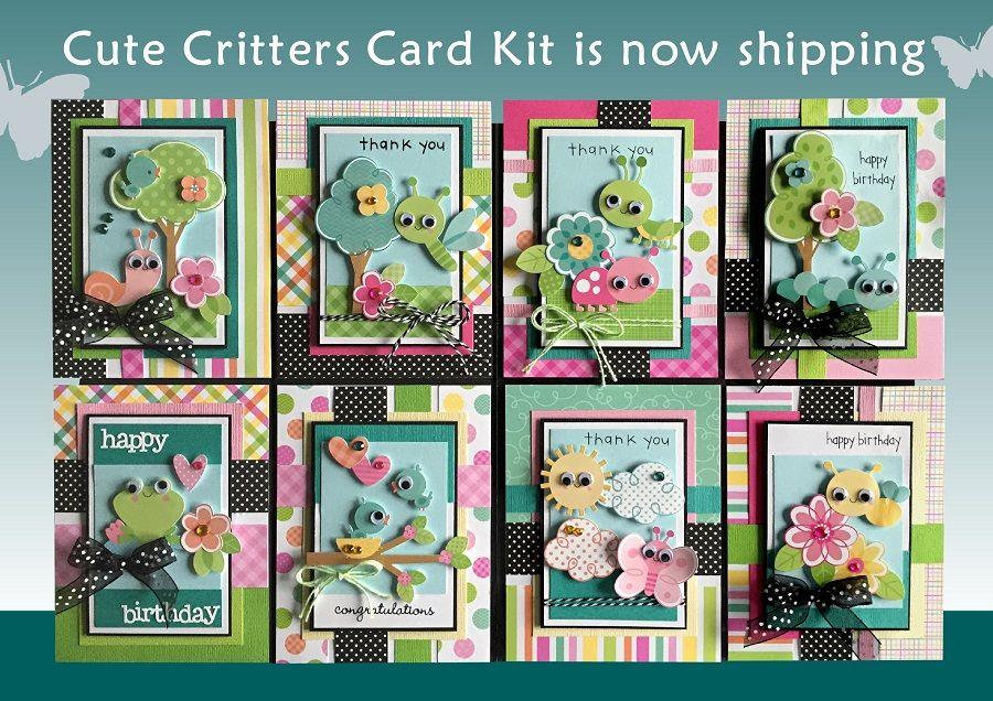 kim's card kits  unique handmade card kits  card making