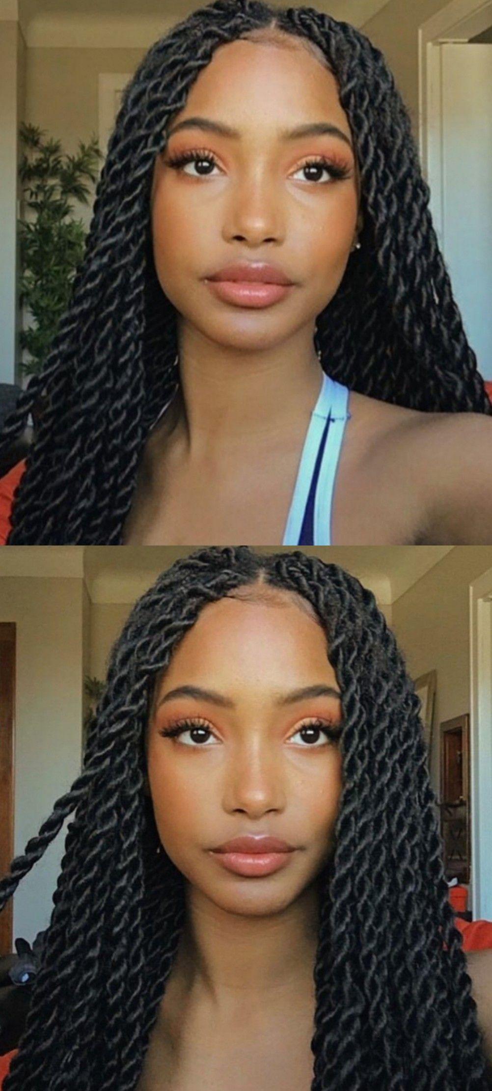 Senegalese Twists  Twist braid hairstyles, Medium twist braids