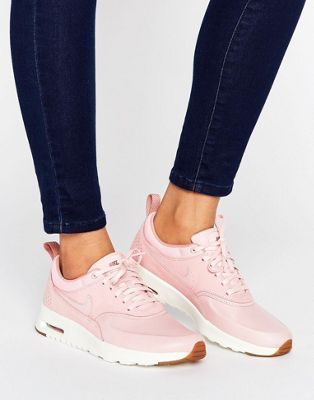 1f21f076f Nike Air Max Thea Basket Weave Trainers In Pink
