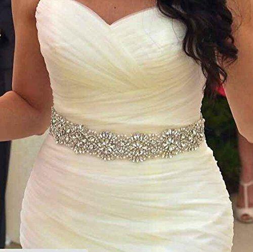 Robot Check Wedding Dress Belt Beaded Bridal Sash Wedding Dress Sash Belt