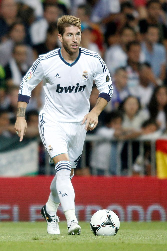 Starting Right Center Back Sergio Ramos Real Madrid Football Club Real Madrid Football Madrid Football Club