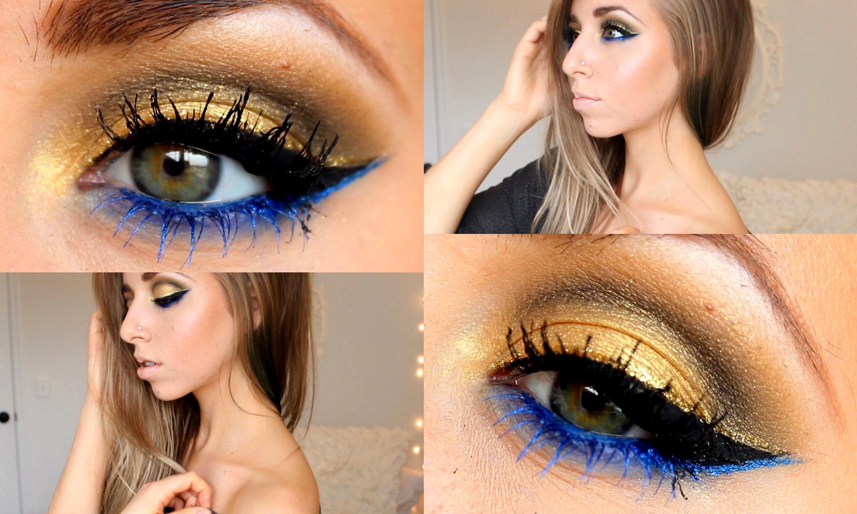Gold Royal Blue Full Face Tutorial Color Guard Makeup Blue