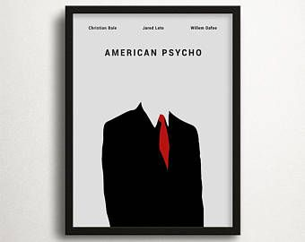 American Psycho Print, Christian Bale, Movie Print, Instant Download