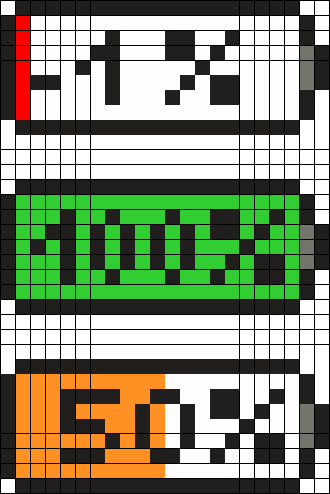 Battery Percent Perler Bead Pattern Bead Sprite Easy Pixel Art