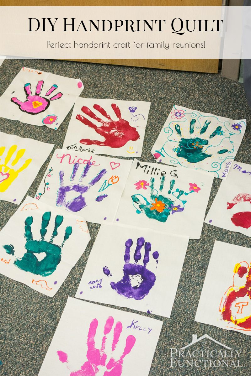 Family Reunion Handprint Crafts Pinterest Family Reunions Craft