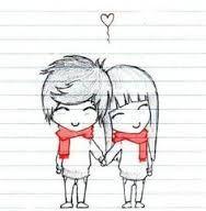 resultado de imagem para desenho de casal apaixonado tumblr xmas