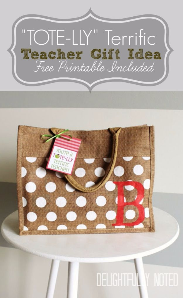 d6bcab763f72 DIY Teacher Gifts - Tote-lly Terrific Teacher Gift - Cheap and Easy  Presents and
