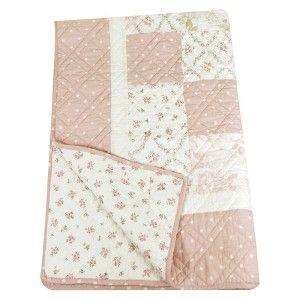 Stephan Baby Pink, Beige,Rose, Cream Quilt - Vintage Pink Dot