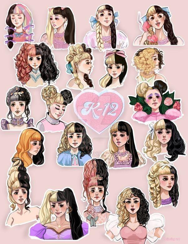 Https Www Deviantart Com Eclipsing Art K 12 Hairstyles 814176831 Melanie Martinez Drawings Melanie Martinez Anime Melanie Martinez