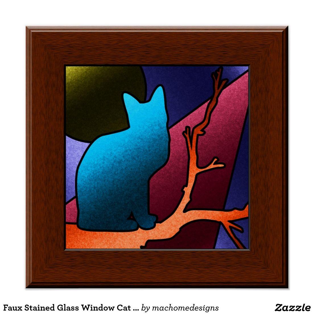 Falso poster del arte del gato del vitral | Pinterest | El gato, Las ...