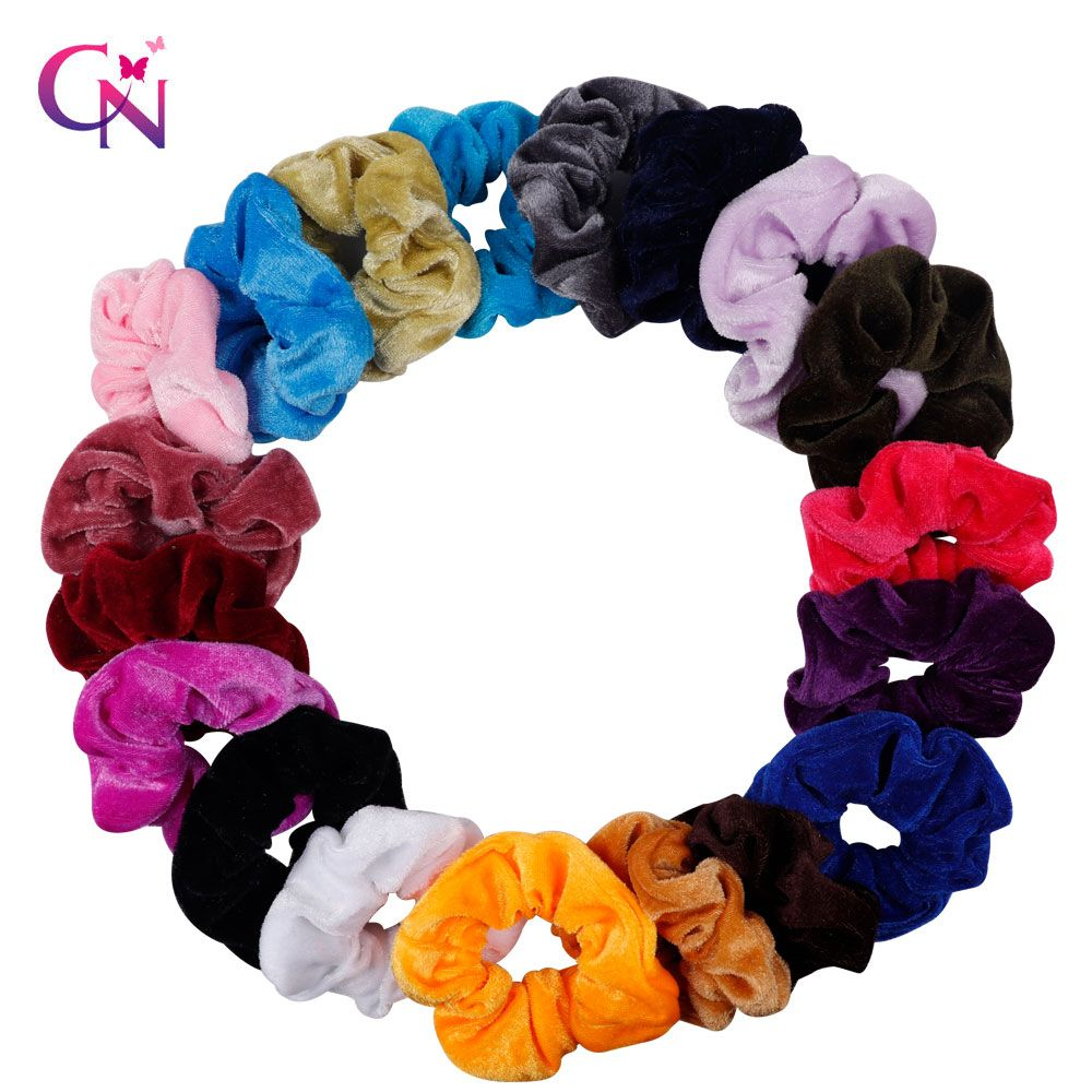 3pcs Set Velvet Solid Elastic Hairbands Ponytail Holder Scrunchies Hair Tie Rubber Band Headband Hair Rubber Bands Hair Accessories For Women Hair Accessories