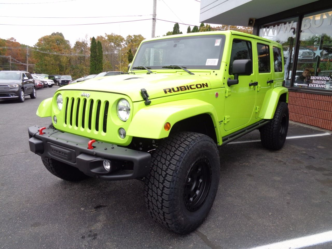 2016 jeep wrangler unlimited rubicon hard rock in hypergreen clearcoat for sale in boston ma