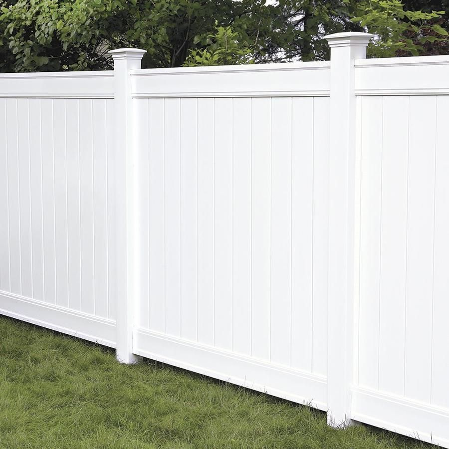 Freedom Ready To Assemble Everton 6 Ft H X 6 Ft W White Vinyl Flat Top Vinyl Fence Panel Lowes Com Vinyl Fence Panels White Vinyl Fence Vinyl Fence
