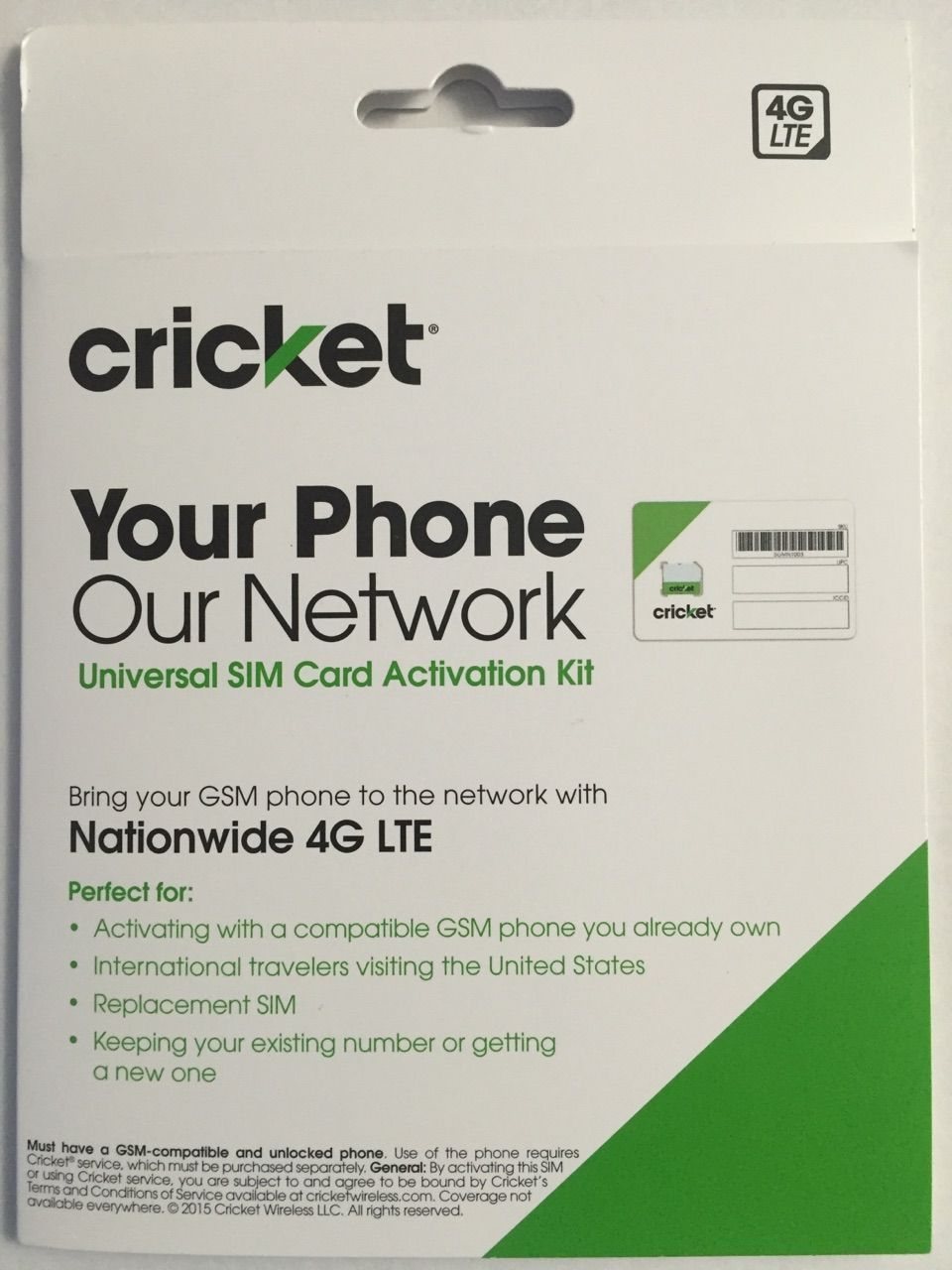 Cricket Wireless BYOD SIM Kit Simply bring your GSM phone to the network with nationwide LTE The kit contains…