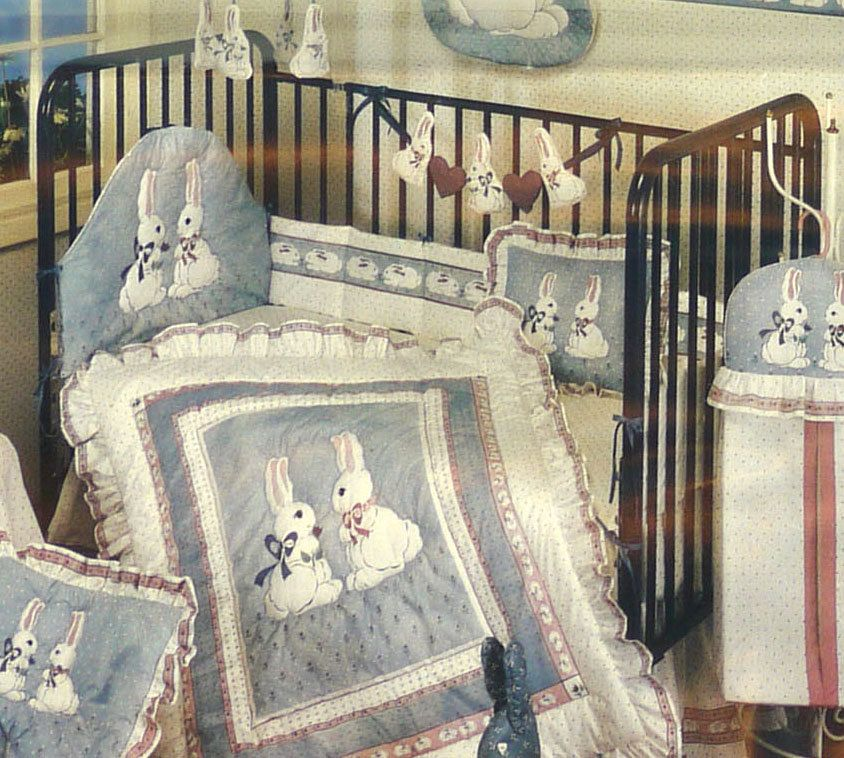 Baby Bunny Crib Kicker Fabric Panel