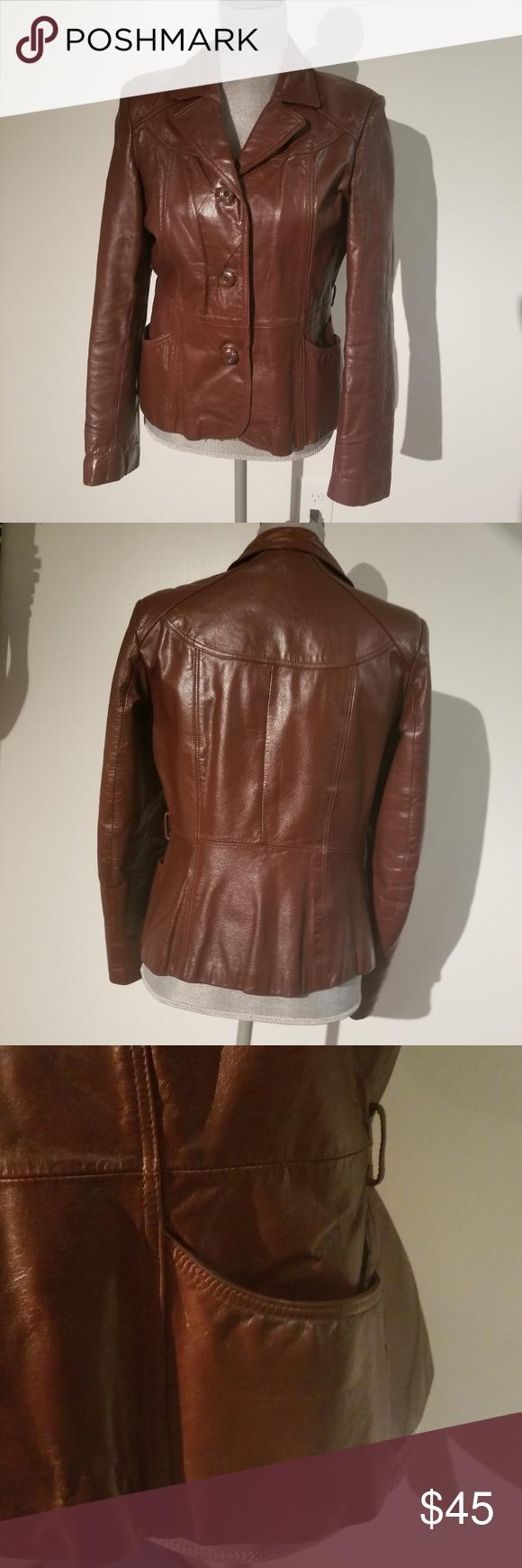 145631b6f Vintage Wilson Leather Jacket W/ Pockets Genuine leather size 10 ...