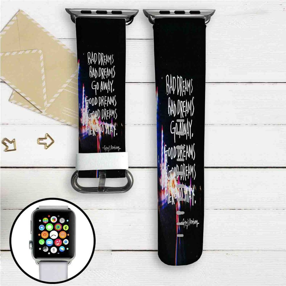 Grey\'s Anatomy Quotes Custom Apple Watch Band Leather Strap Wrist ...