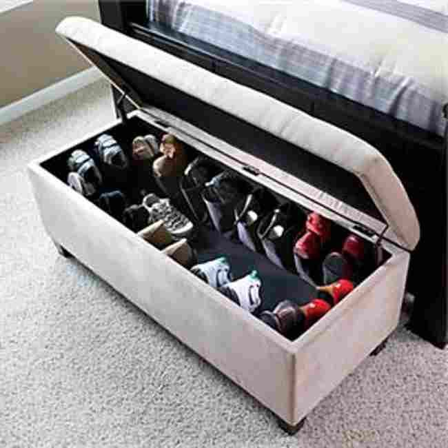ottoman shoe storage bench - Ottoman Shoe Storage Bench For The Home Pinterest Shoes