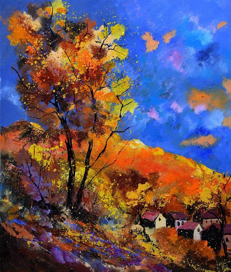 Landscape Painting - Autumn 675101 by Pol Ledent