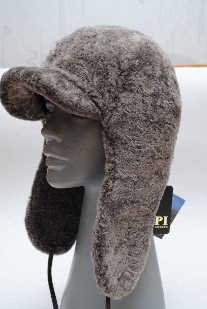 2f802048825 HAT RUSSIAN USHANKA FUR SHEEP GRAY BREND