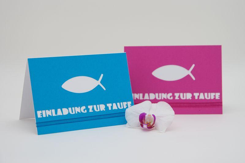 Einladung Zur Taufe U201ekleiner Fischu201c Von Kiwis Atelier Auf DaWanda.com