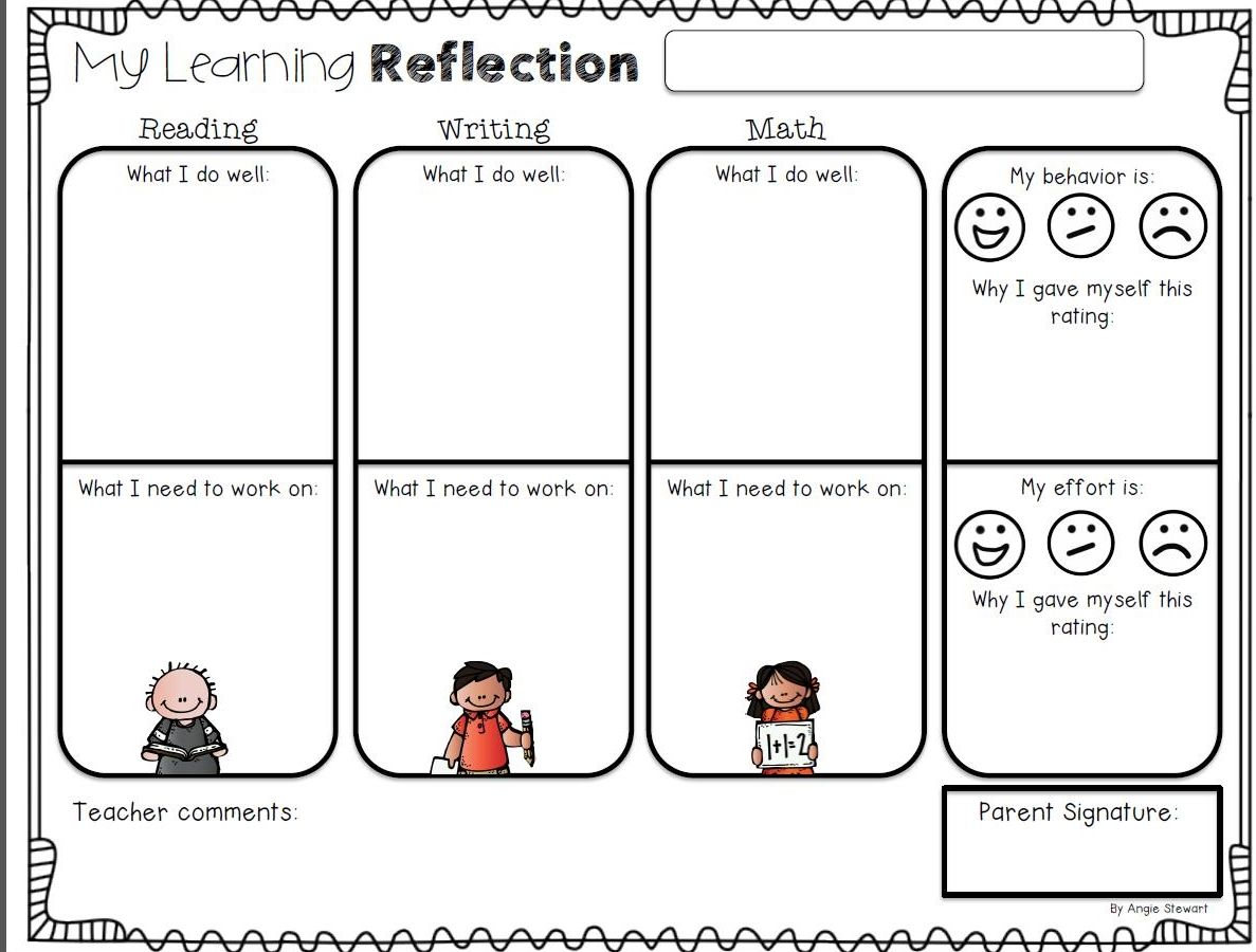 Reflection Worksheet Kids