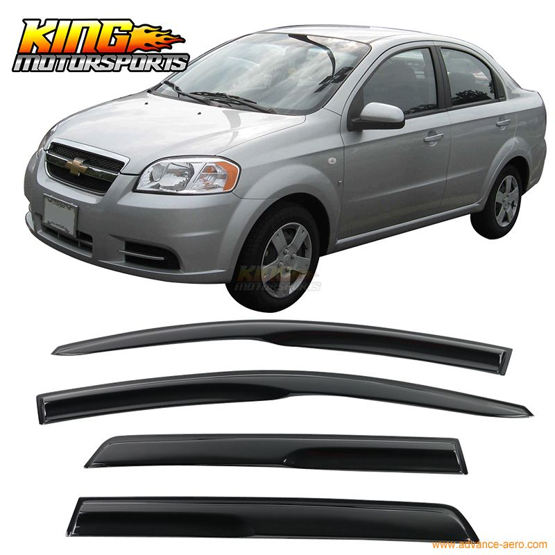 For 2007 2011 Chevy Aveo Jdm Hatchback 5dr Smoked Wind Deflectors Stick On Window Visors Usa Domestic Free Shipping Exterior Accessories Car Videos Hatchback