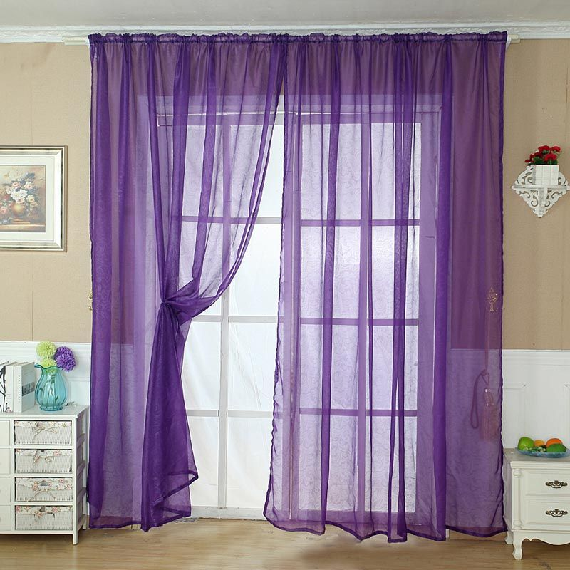 Sheer Scarf Valance Window Treatments Part - 41: Purple Sheer Scarf Valance