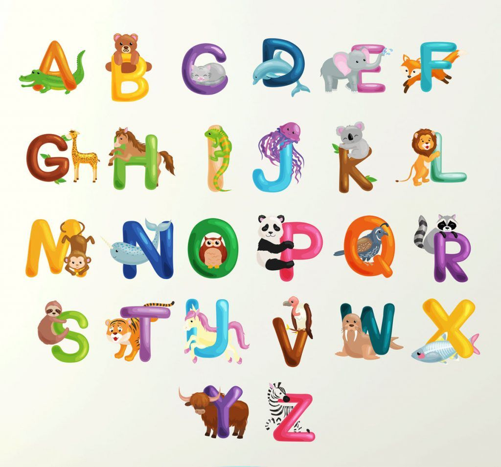alphabet wall sticker 70cm learn letters kids room decal on wall stickers for kids id=57198