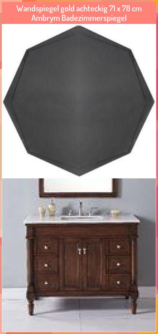 Badezimmer Spiegel Gold